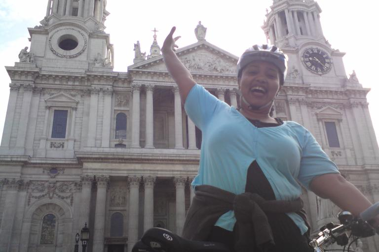 Cycle Fridays - Beginner cyclist Maha celebrates her first time riding to work