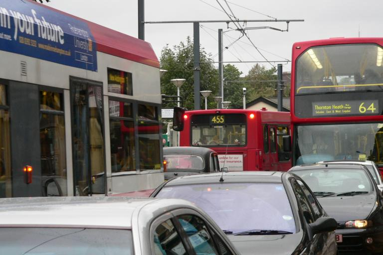Traffic Jam in Croydon Pic: Chris McKenna