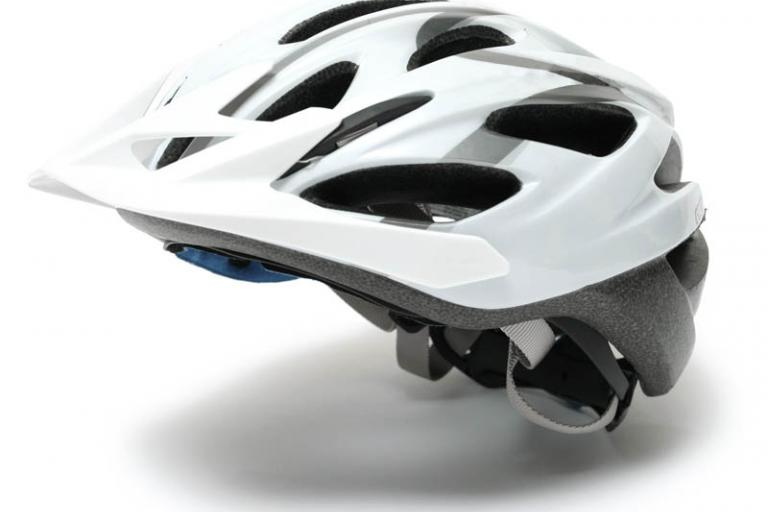 White cycle helmet