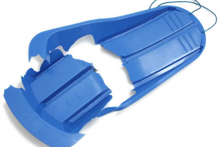 Broken sledge