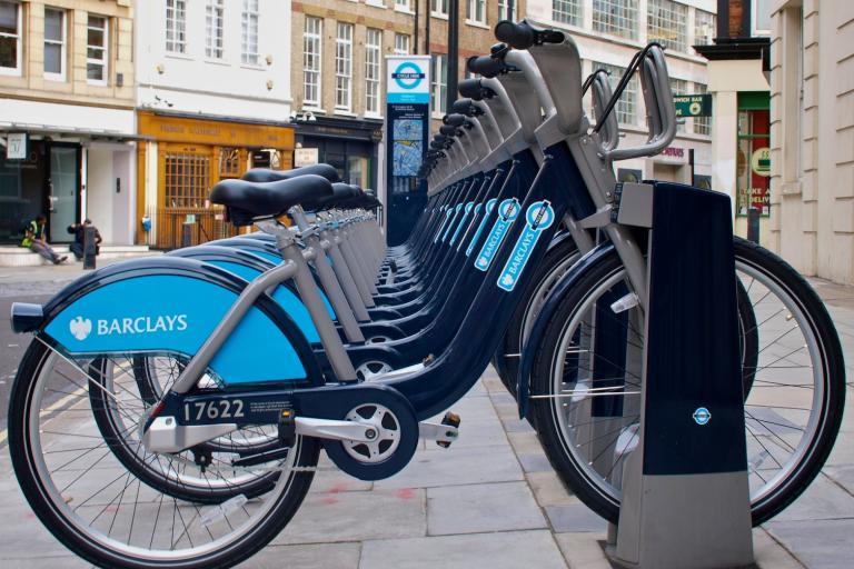 London Cycle Hire Scheme Bikes On Docking Station (copyright Simon MacMichael).jpg