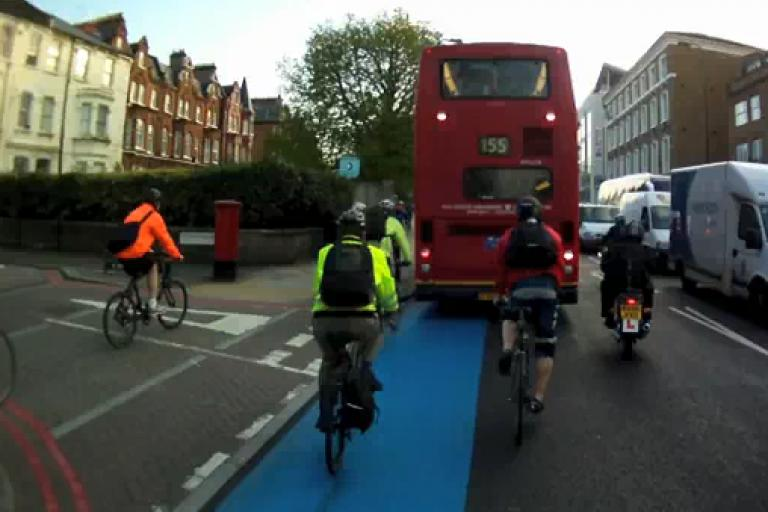 London Cycle Super Highway Vid