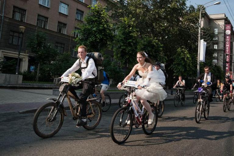 Russian cycle wedding