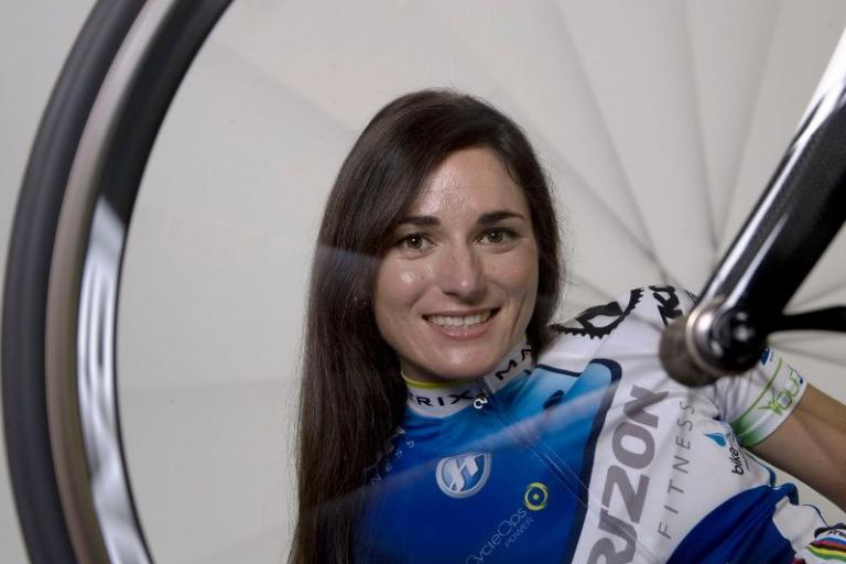 Sarah Storey (through wheel)