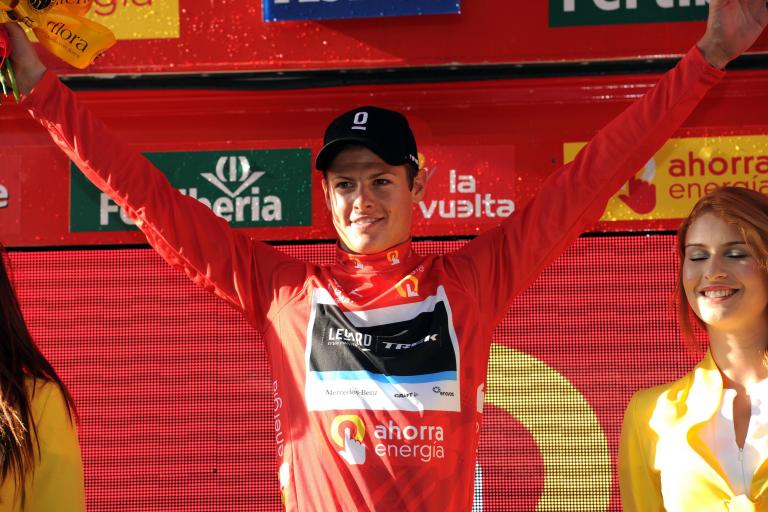 Jakob Fuglsang after Stage 1 of the 2011 Vuelta (copyright Tour of Spain/Graham Watson).jpg