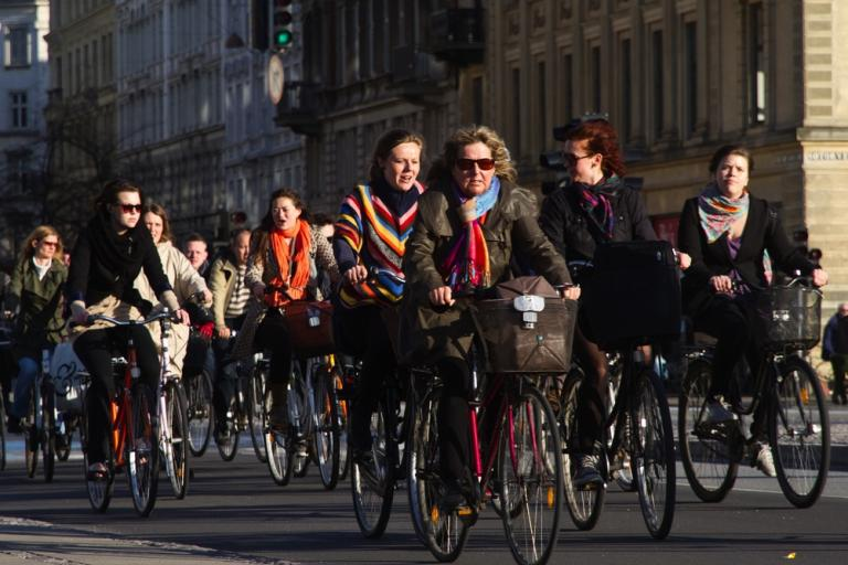 02 World's busiest cycling street - Nørrebrogade in Copenhagen (photo credit Copenhagenize Design Company)