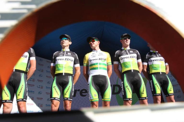 GreenEdge being presented (Photo - Santos Tour Down Under:Regallo)