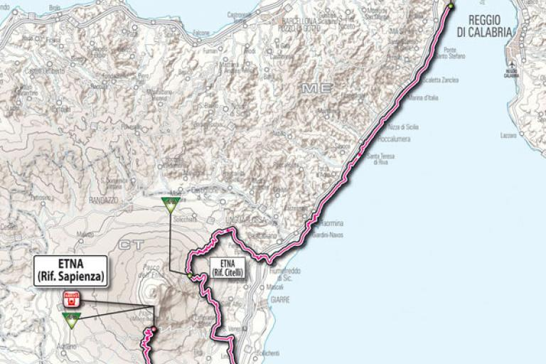 Giro d'Italia 2011 Stage 09 Map