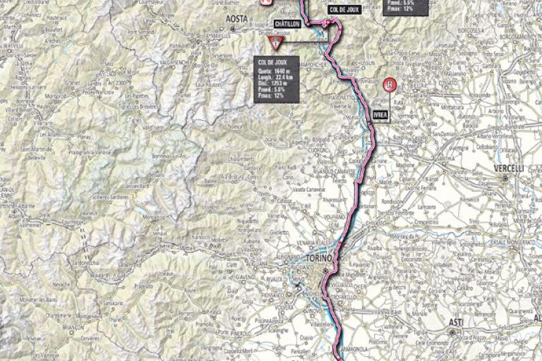 Giro 2012 Stage 14 map