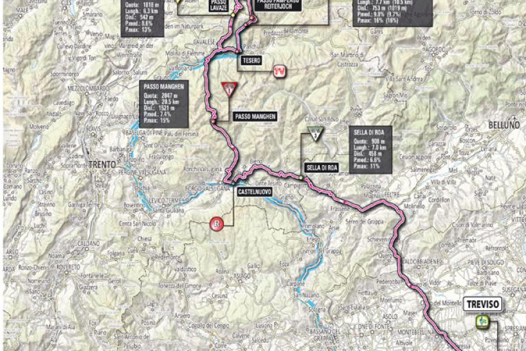 Giro 2012 Stage 19 map