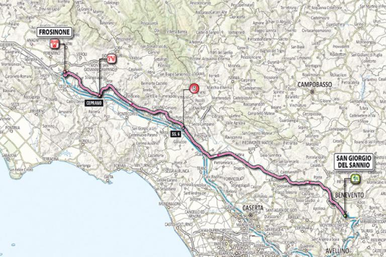 Giro 2012 Stage 9 map