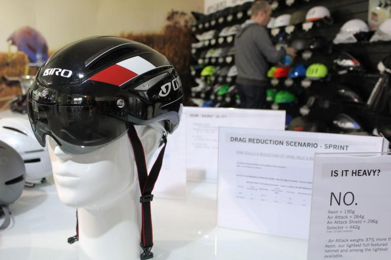 Giro Air Attack helmet with signs