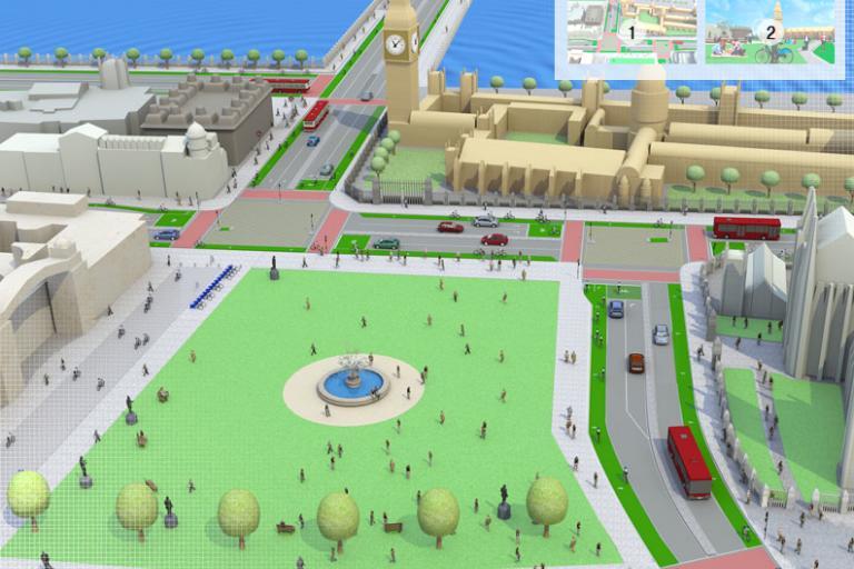 Love London, Go Dutch Parliament Square (source - LCC)