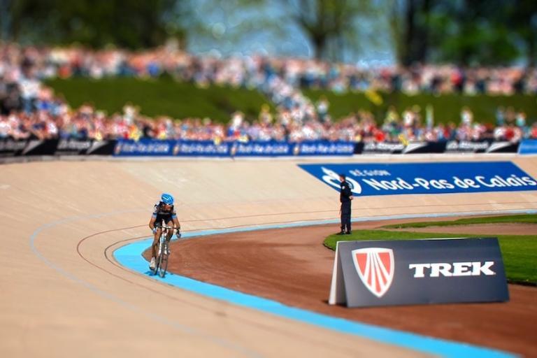 Johan Van Summeren wins 2011 Paris-Roubaix Tiltshift © Simon MacMichael-tiltshift-2