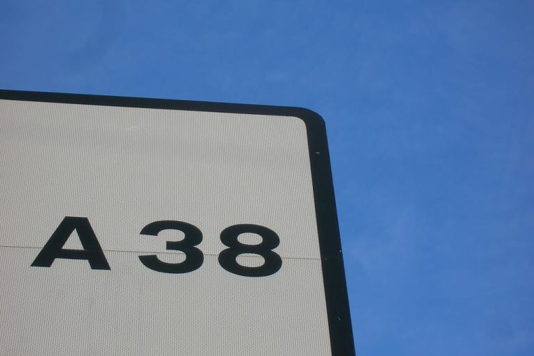A38 (CC BY-SA 2.0 by Rob Brewer:Flickr)