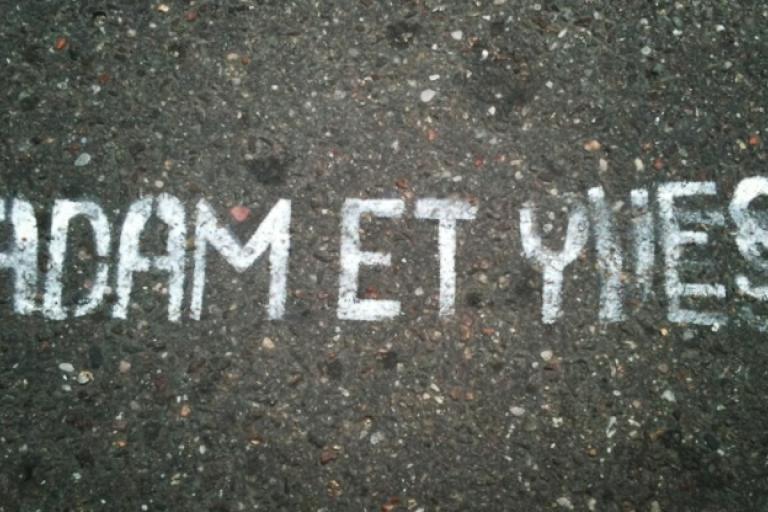 Adam et Yves pro same-sex marriage graffiti, Paris (picture Kristine MacMichael)_