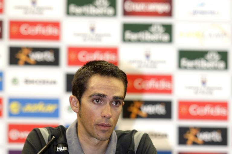 Alberto Contador Vuelta 2012 press conference