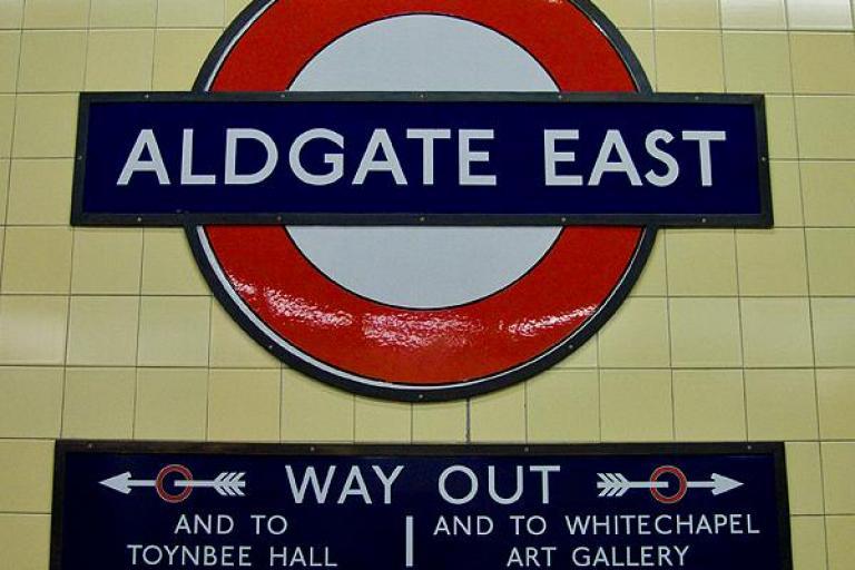 Aldgate East (copyright chrisjohnbeckett via Flickr)