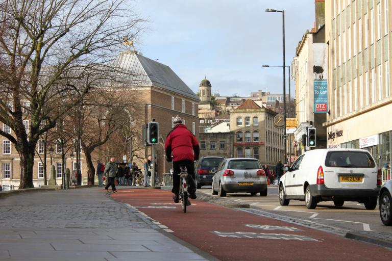 Better Cycle infrastructure in Bristol (CC licenced by tejvanphotos:Flickr)