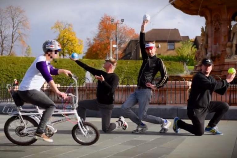 Bike Gob at the Playgirl Palace Vimeo still