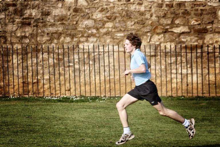 Boy running © Simon MacMichael