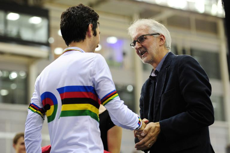 Brian Cookson at 2013 Junior World Track Championships (credit Brian Cookson Images, Flickr)