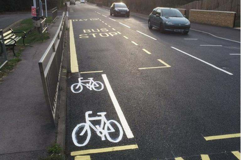 Caminada Stroud bike lane.png
