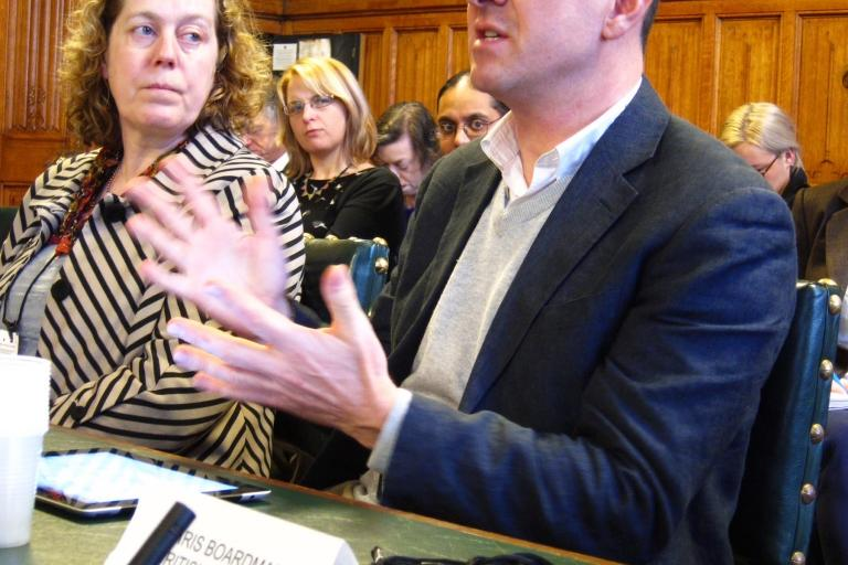 Chris Boardman at Get Britain Cycling Inquiry, February 2012