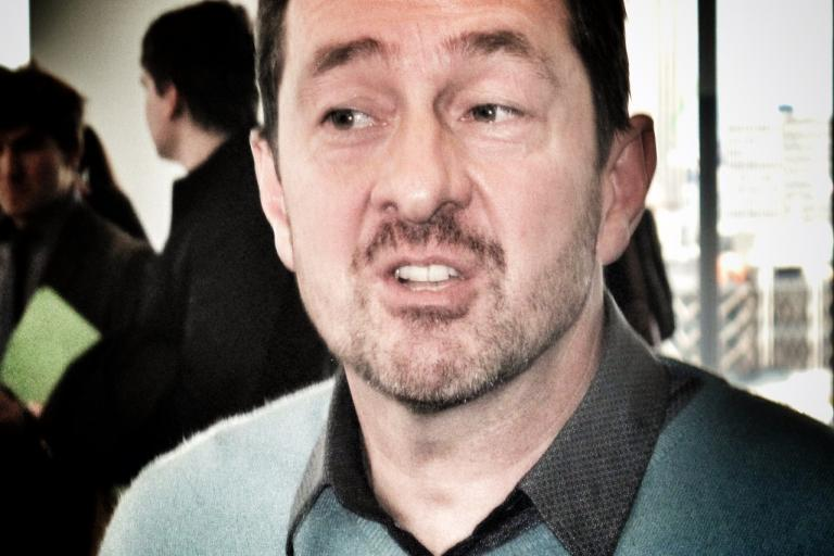 Chris Boardman at the Big Cycling Debate, March 2015 (copyright Simon MacMichael)