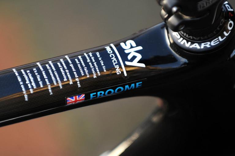 Chris Froome Pinarello Dogma on eBay 2 (picture credit Jane Barlow Photography)