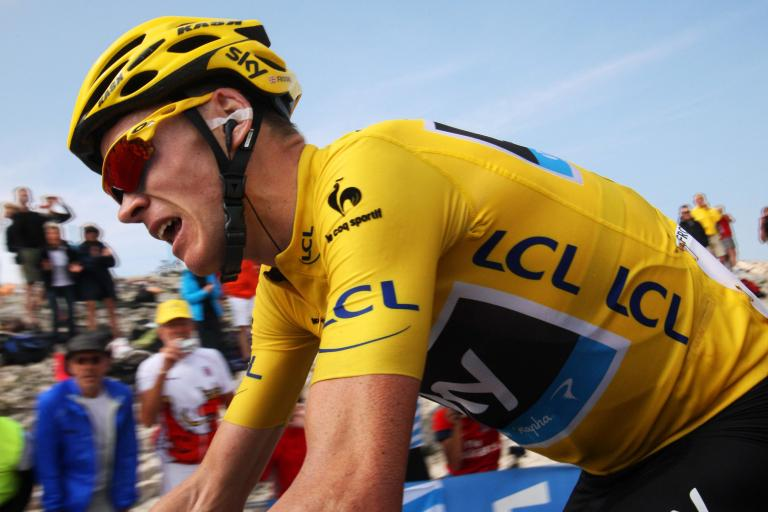 Chris Froome on Mont Ventoux (copyright John Pierce)