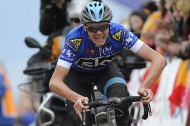 Chris Froome on way to winning Stage 4 of 2015 Ruta del Sol (pic Vueltaaandalucia.com)