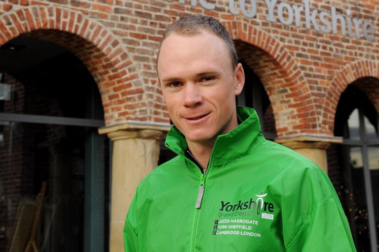 Chris Froome sporting Tour Maker jacket