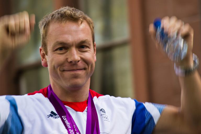 Chris Hoy in the post-Olympic parade in Glasgow (CC licensed image by William Newman:Flickr)