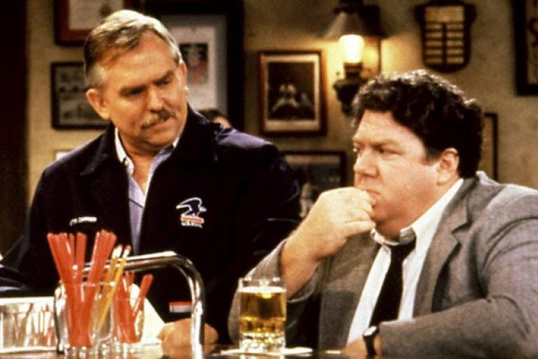 Cliff and Norm (still from Cheers)