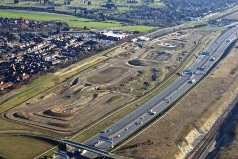 Cyclopark aerial view (picture - Kent County Council)