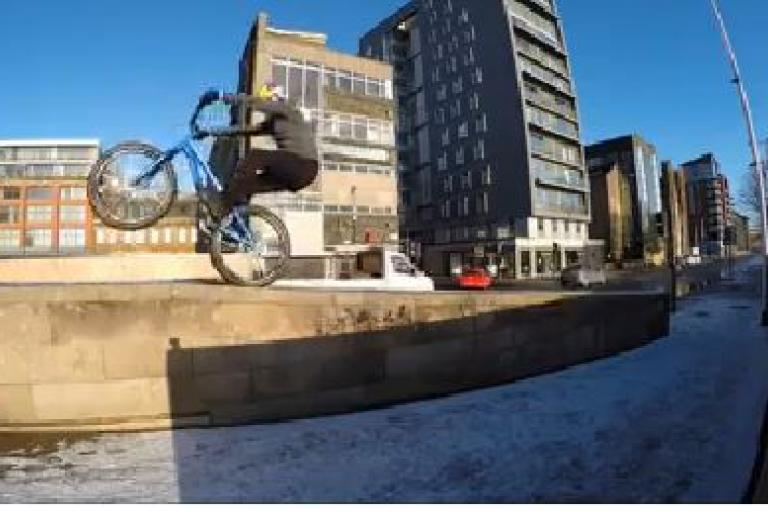 Danny MacAskill in Glasgow snow YouTube still
