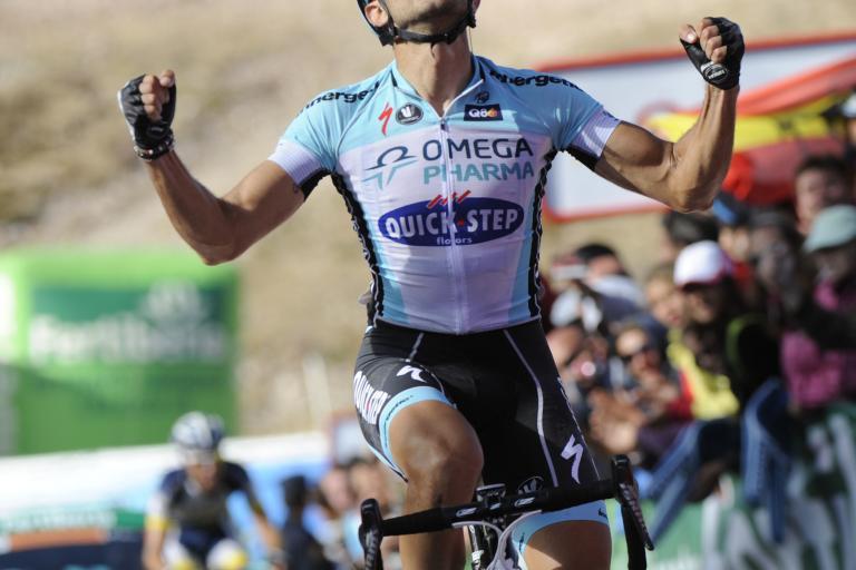 Dario Cataldo wins 2012 Vuelta Stage 16 (copyright Unipublic:Graham Watson