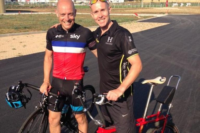 Daves Brailsford and Sims, plus a Raleigh Chopper (photo via Twitter)