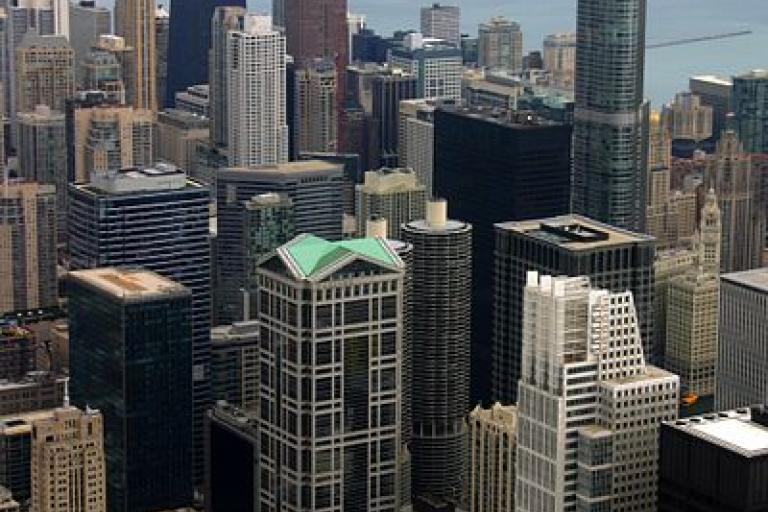 Downtown Chicago picture credit J Crocker Wikimedia Commons.jpg