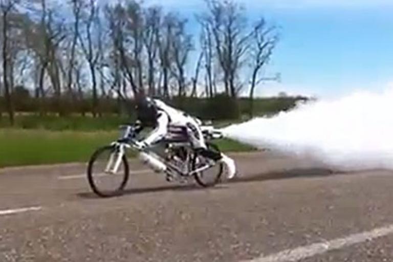 Francois Gissy rocket bike