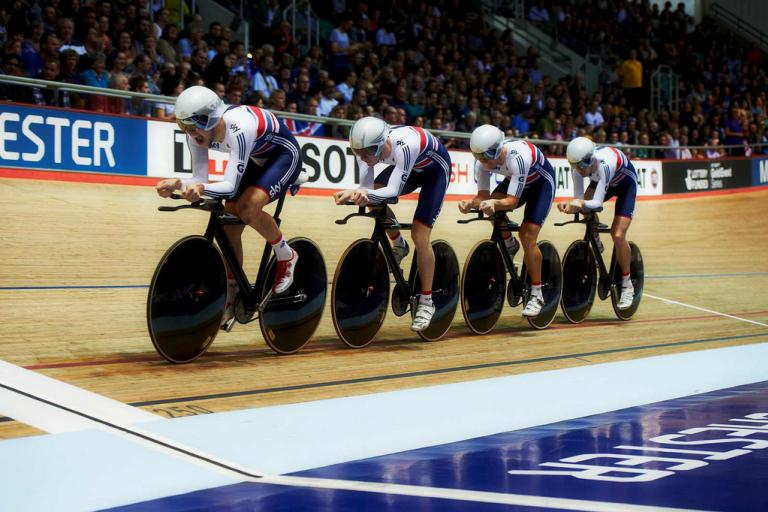 GB men's team pursuit Manchester TWC 2014 © Britishcycling.org.uk
