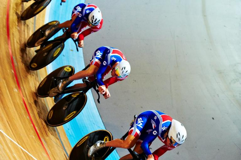 GB team pursuit, Apeldoorn Euro Champs 2011 (copyright britishcycling.org.uk)