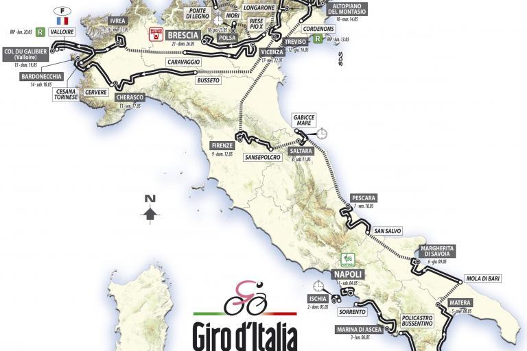 Giro d'Italia 2013 route map final