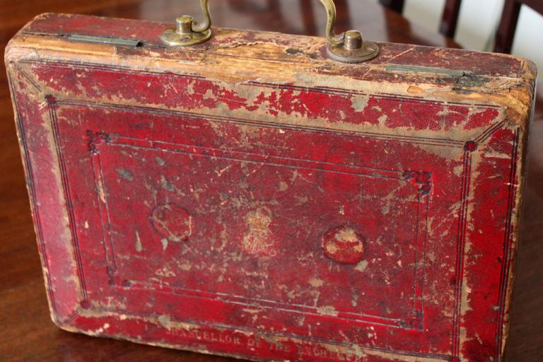 Gladstone Budget Box (picture - HM Treasury)