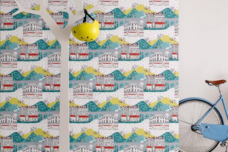Graham and Brown Tour de Yorkshire wallpaper