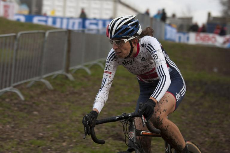 Helen Wyman at 2014 CX Worlds - Licensed under CC BY-NC-SA 2.0 by Hans905 on Flickr