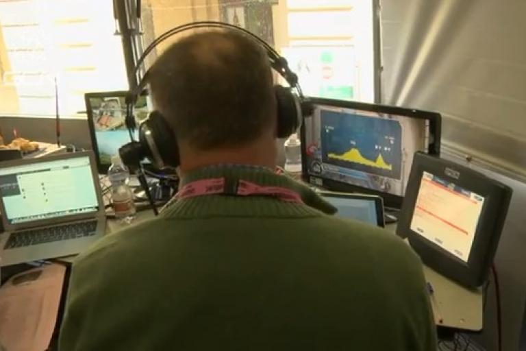 Inside the commentary box (picture GCN)