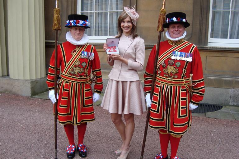 Joanna Rowsell with her MBE (courtesy Joanna Rowsell)