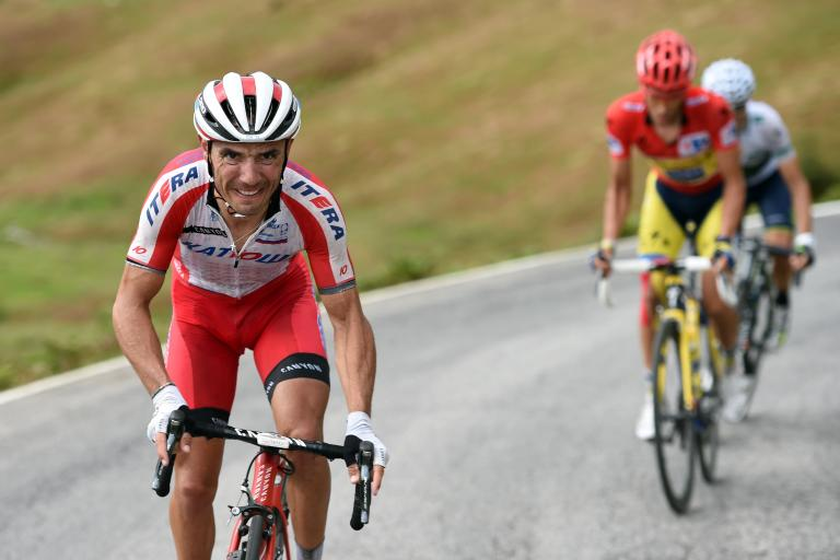 Joaquin Rodriguez attacks on Stage 15 of 2014 Vuelta (picture Unipublic, Graham Watson)